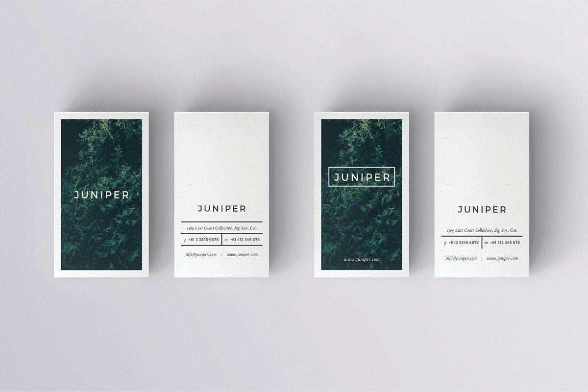 Mẫu thiết kế danh thiếp tối giản của JUNIPER
