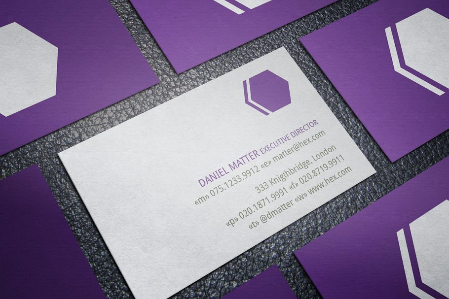mẫu thiết kế danh thiếp màu tím