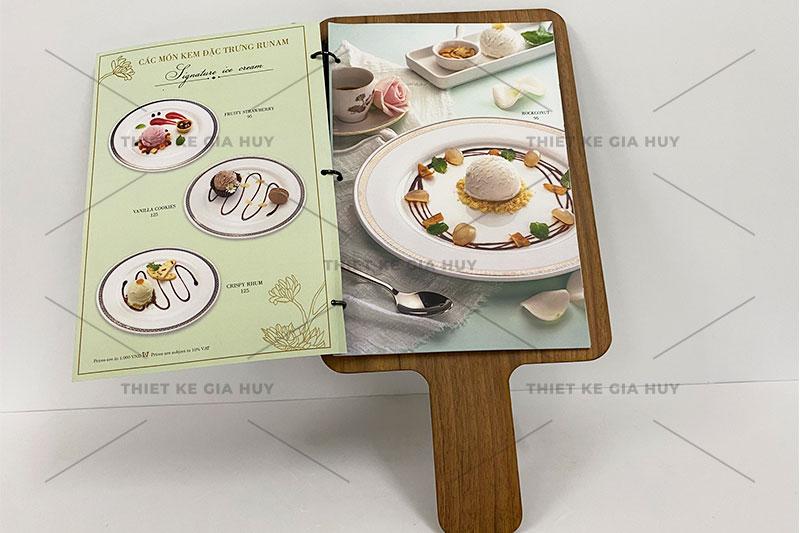 mẫu thiết kế menu theo phong cách thanh lịch