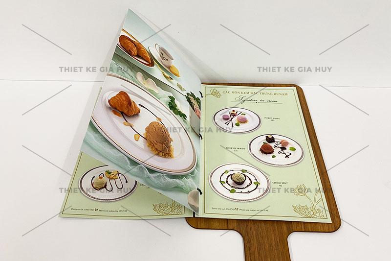 mẫu menu quán nước bảng gỗ cao cấp