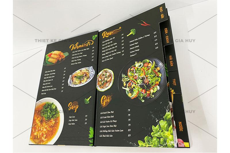 mẫu thiết kế menu nhà hàng sang trọng