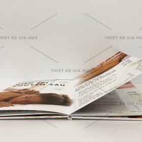 mẫu menu bồi bìa cứng mở phẳng