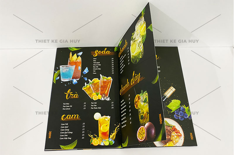 mẫu thiết kế menu quán nước siêu đẹp
