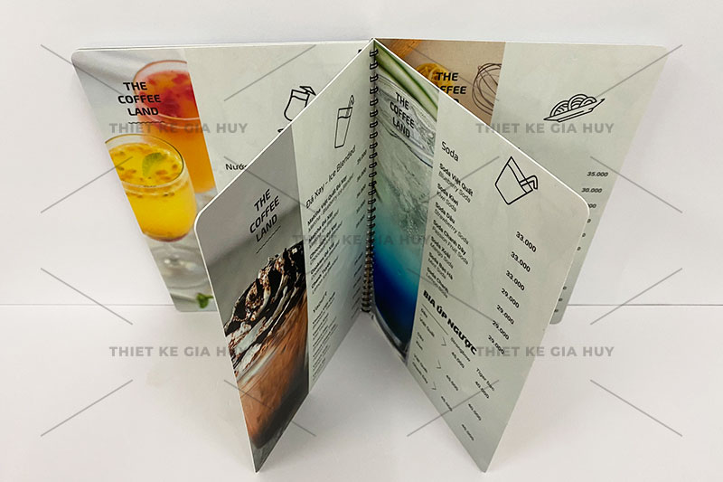 mẫu menu nhự PVC chống thấm 100%