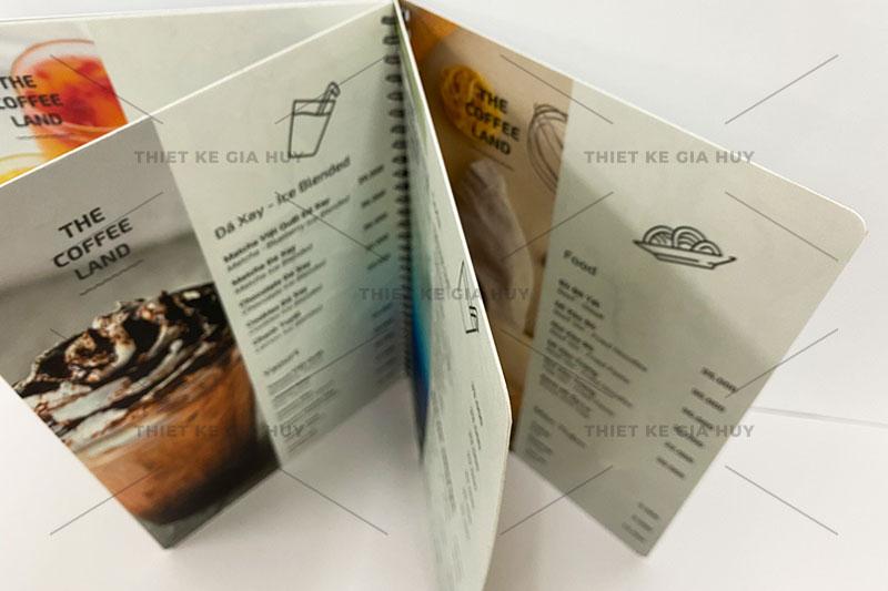 Mẫu menu nhựa PVC chống nước 100% dành cho quán cafe