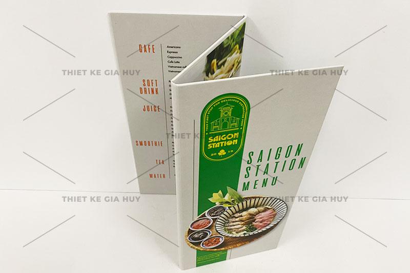 mẫu menu bồi carton gập ba