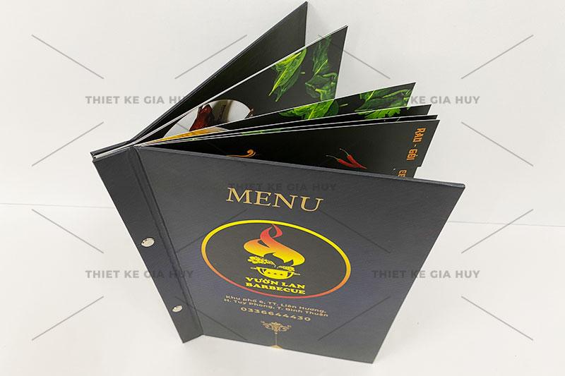 mẫu menu bồi bìa cứng gáy ốc ngoài siêu đẹp