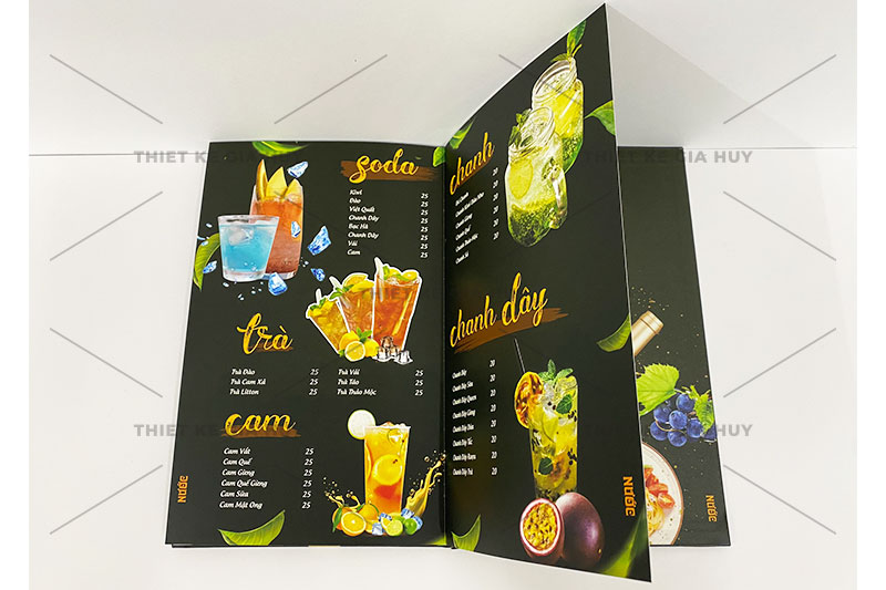 mẫu thiết kế menu trà sữa đẹp hút hồn