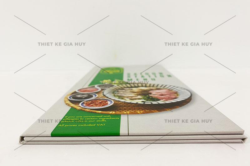 mẫu menu bồi carton gập 3 siêu đẹp