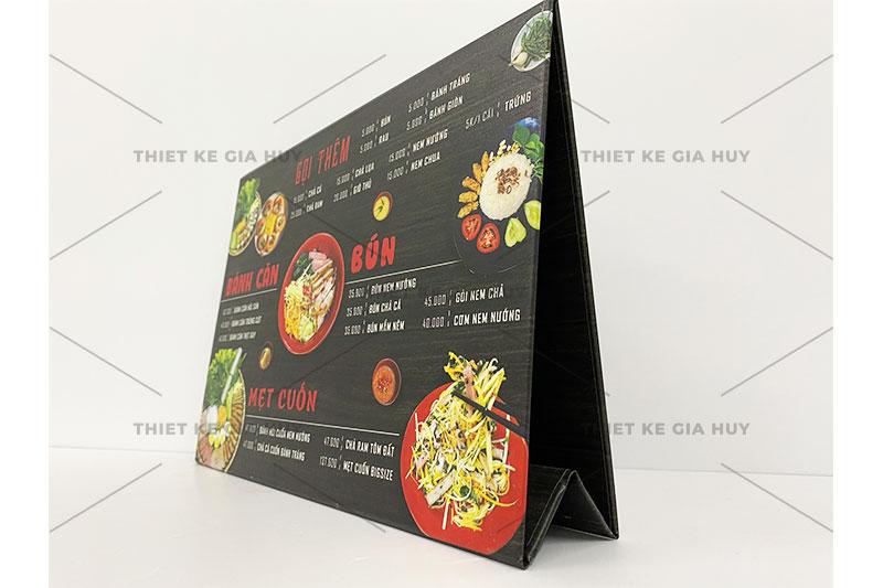 mẫu menu để bàn cho quán ăn, quán cafe