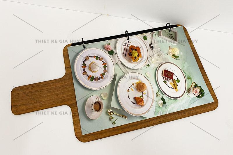 Mẫu menu bảng gỗ kích thước A3