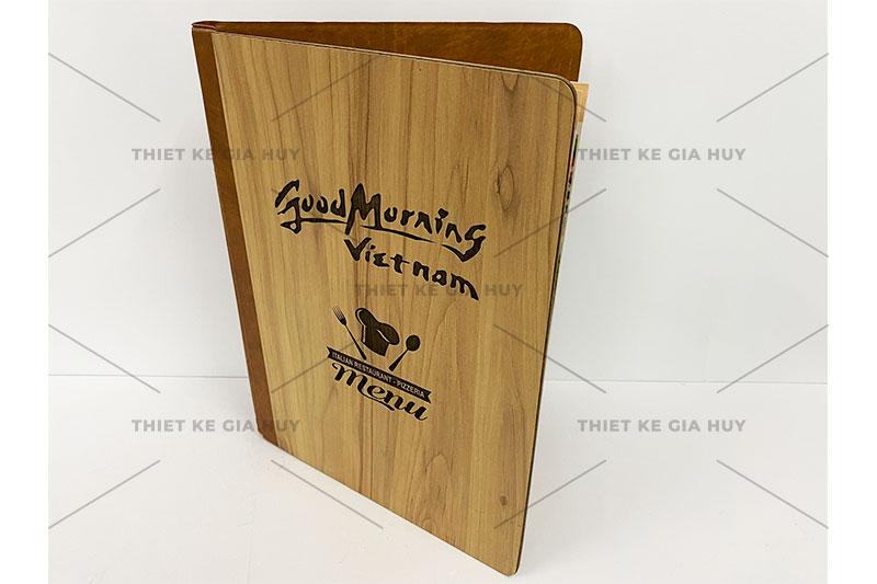 mẫu menu gỗ cao cấp