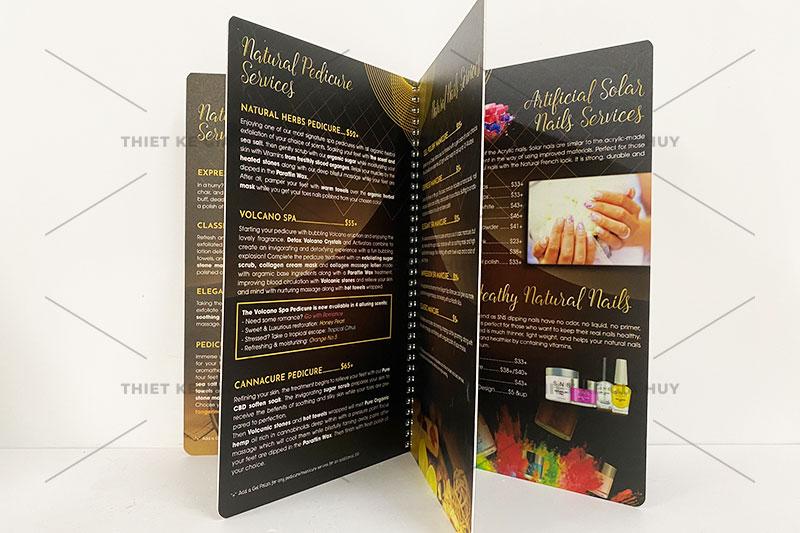 mẫu menu nails bồi nhựa chống nước 100%