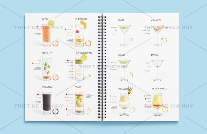 mẫu thiết kế menu cafe đơn giản