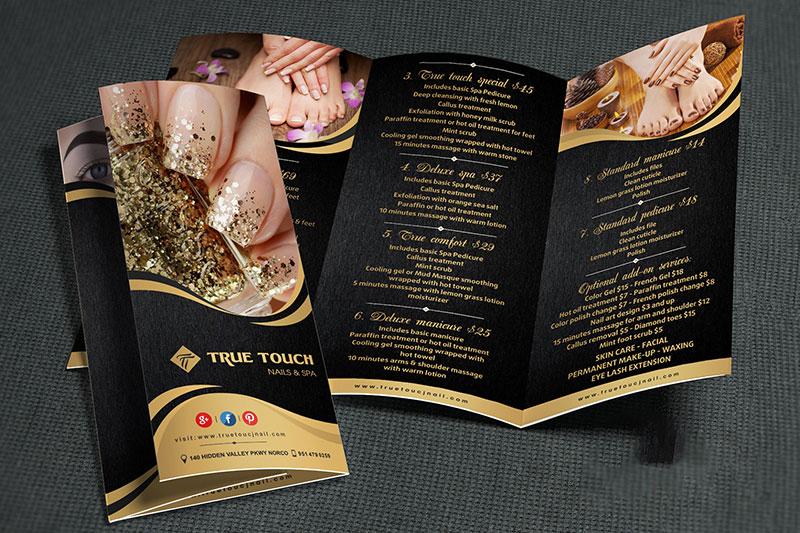 mẫu thiết kế menu nails đẹp hút hồn