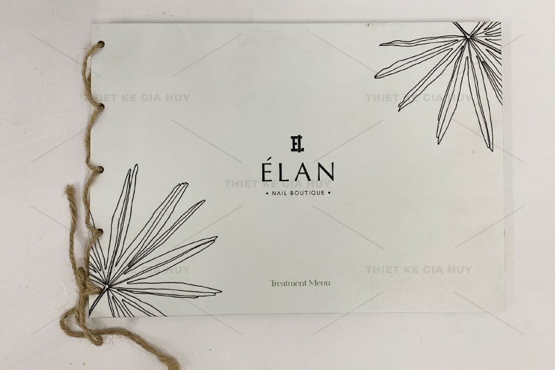 mẫu thiết kế menu nails theo phong cách thanh lịch