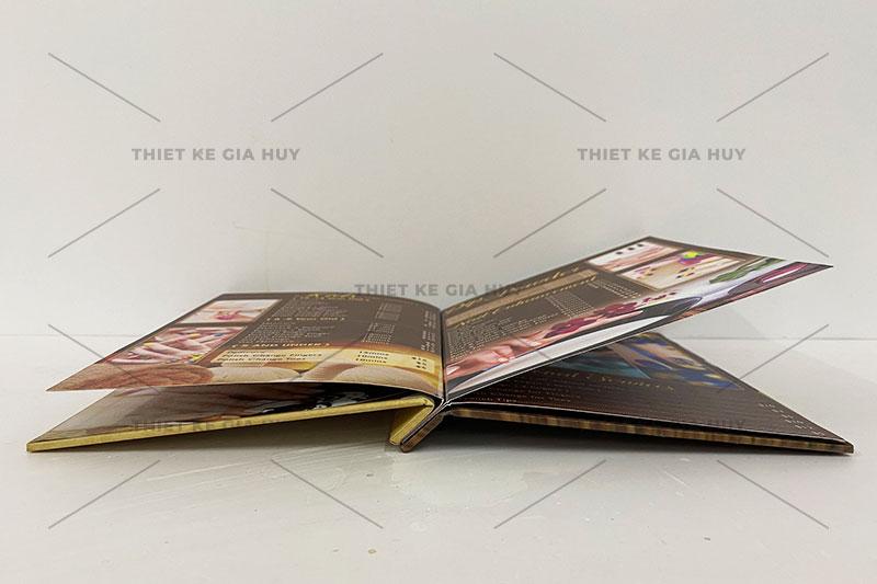 mẫu menu nails & spa quy cách bồi bìa cứng đóng gáy ốc