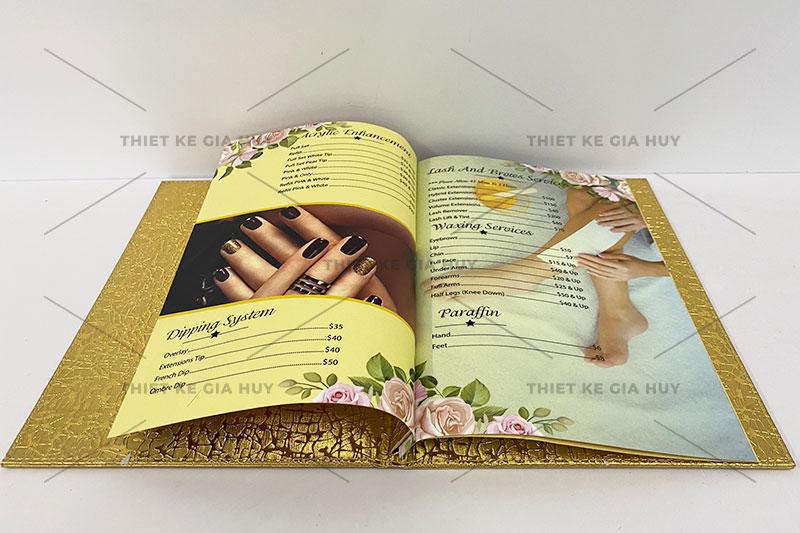 mẫu thiết kế menu nails spa đẹp hút hồn