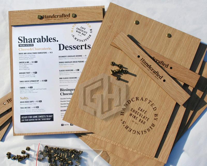 menu gỗ bảng đơn kích thước