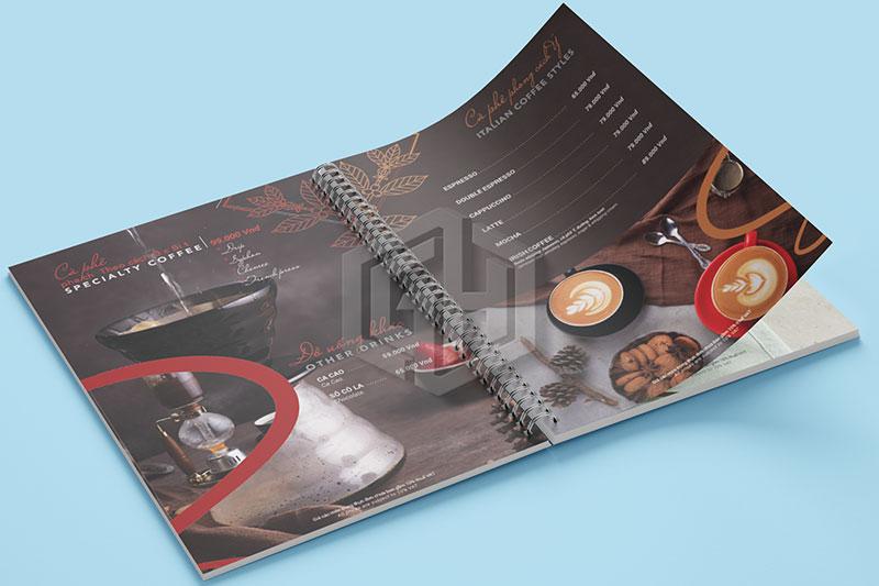 mẫu thiết kế menu quán cafe đẹp
